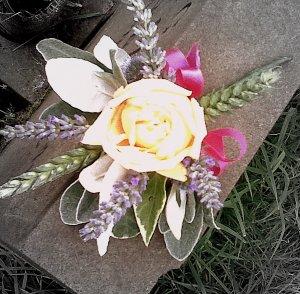 vintage rose corsage